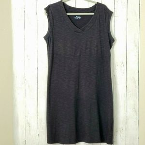 Columbia Knit Dress XL Sleeveless Short Charcoal